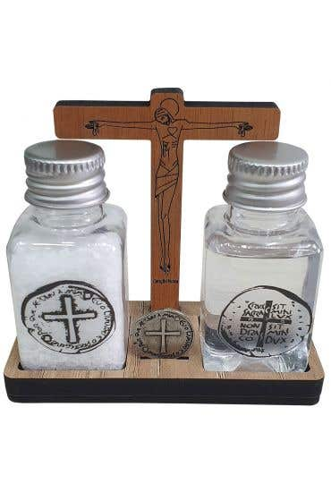 Kit Água, Sal e Medalha das Duas Cruzes