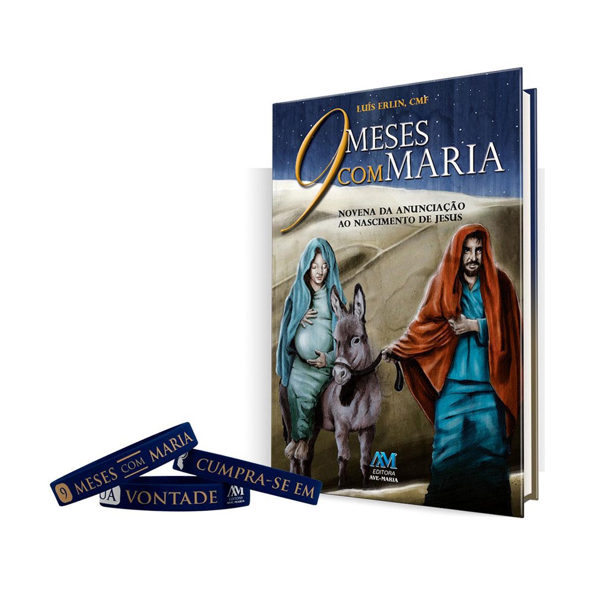 Livro 9 Meses com Maria + Pulseira