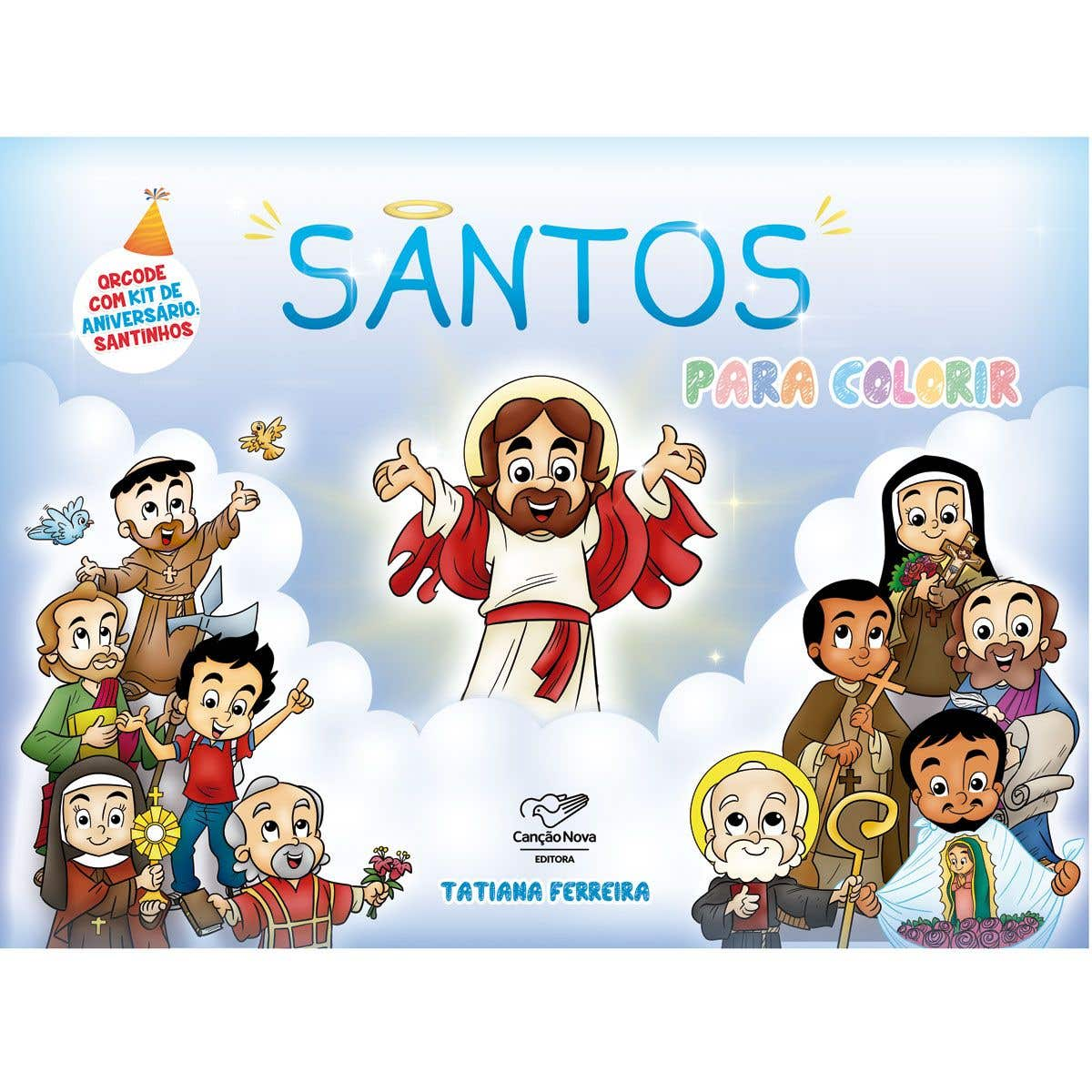 Livro Santos para Colorir