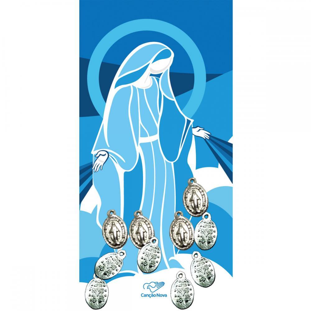 Medalhinhas de Nossa Senhora das Graças - Pacote com 10