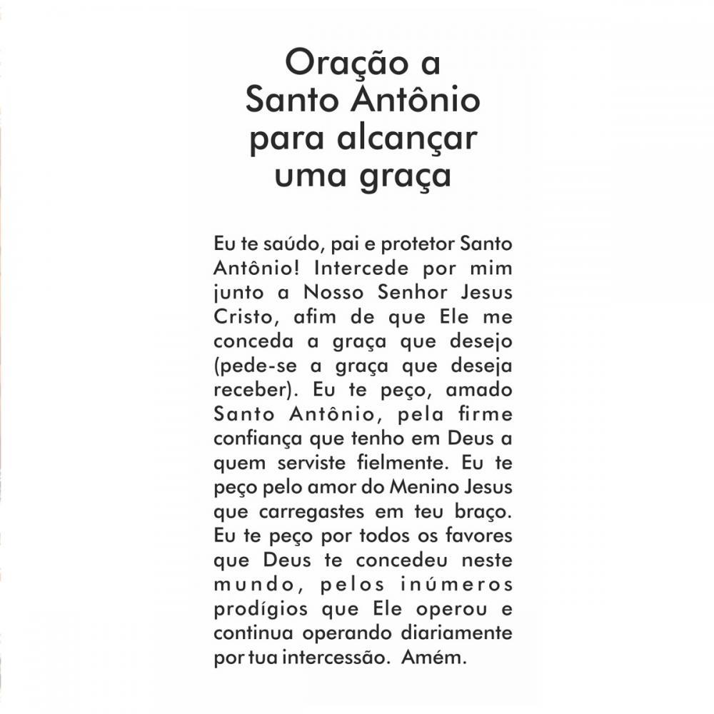 Mini Imagem de Santo Antônio - Pacote com 10