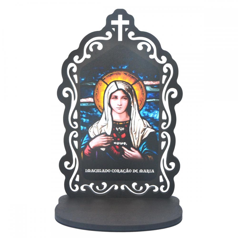 Oratório Vitral - Imaculado Coração de Maria