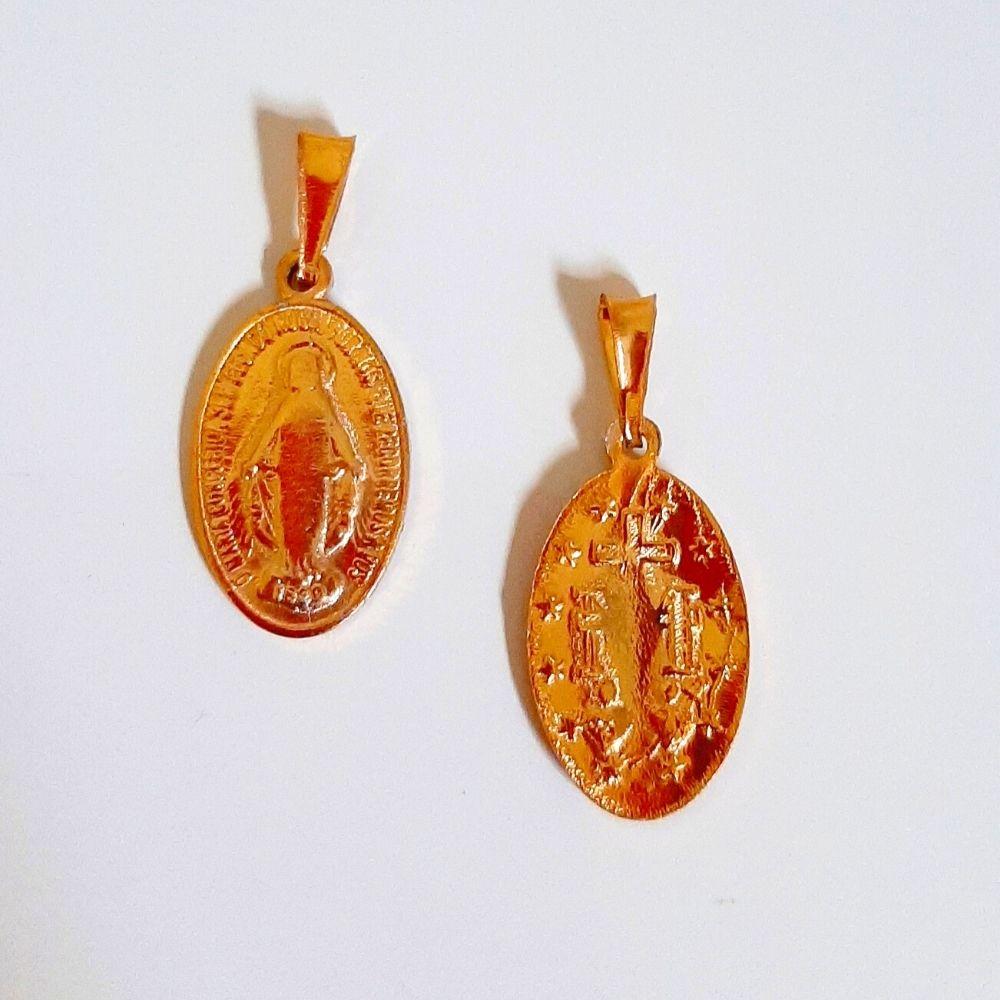 Pingente Medalha Milagrosa - Dourada