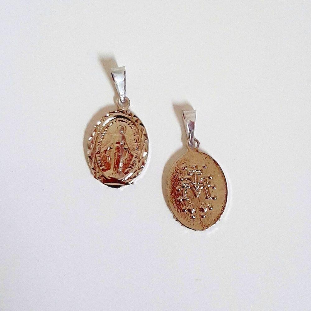 Pingente Medalha Milagrosa - Prata