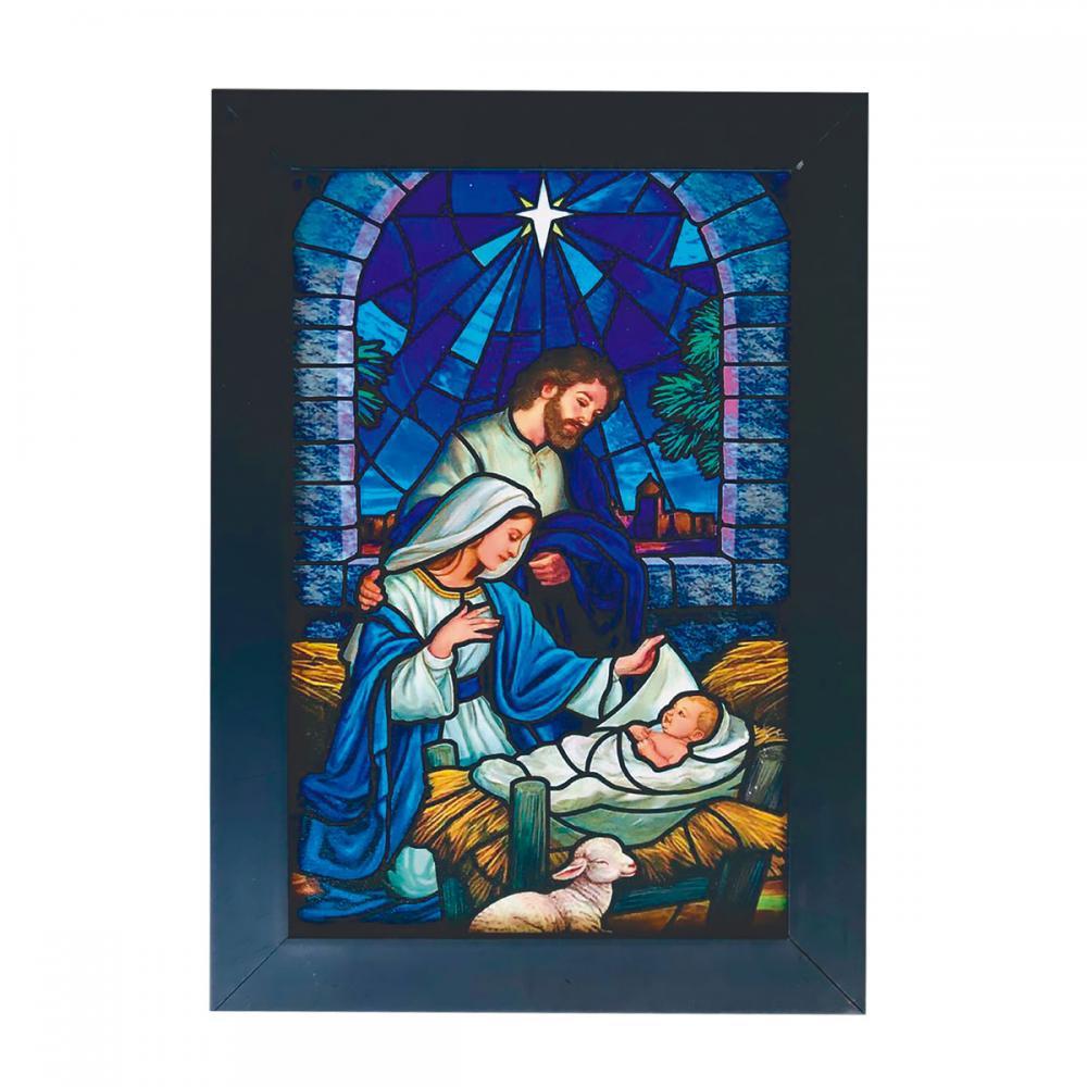Quadro Sagrada Família Mosaico Preto
