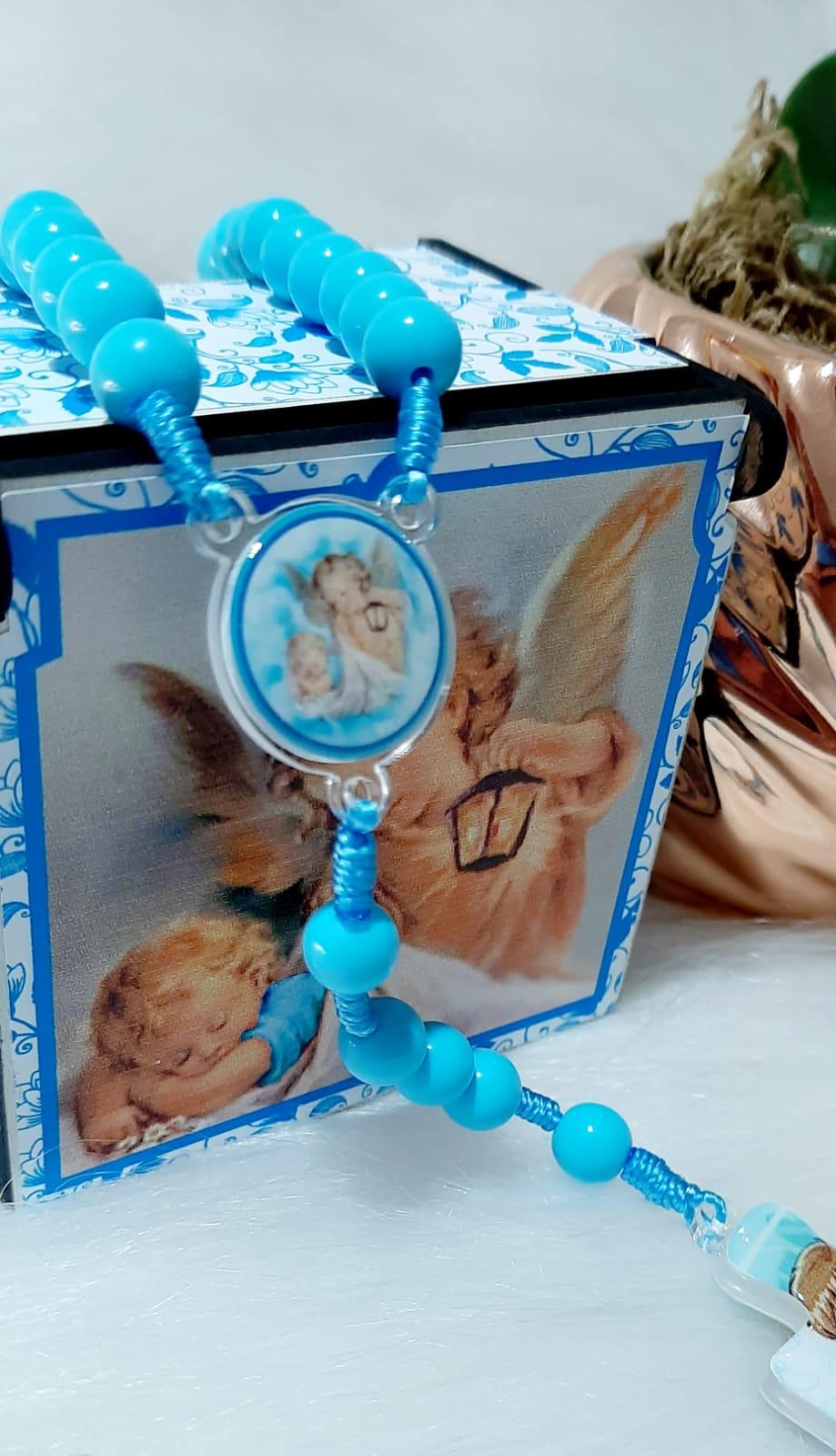 Terço Anjo da Guarda  - Infantil Azul