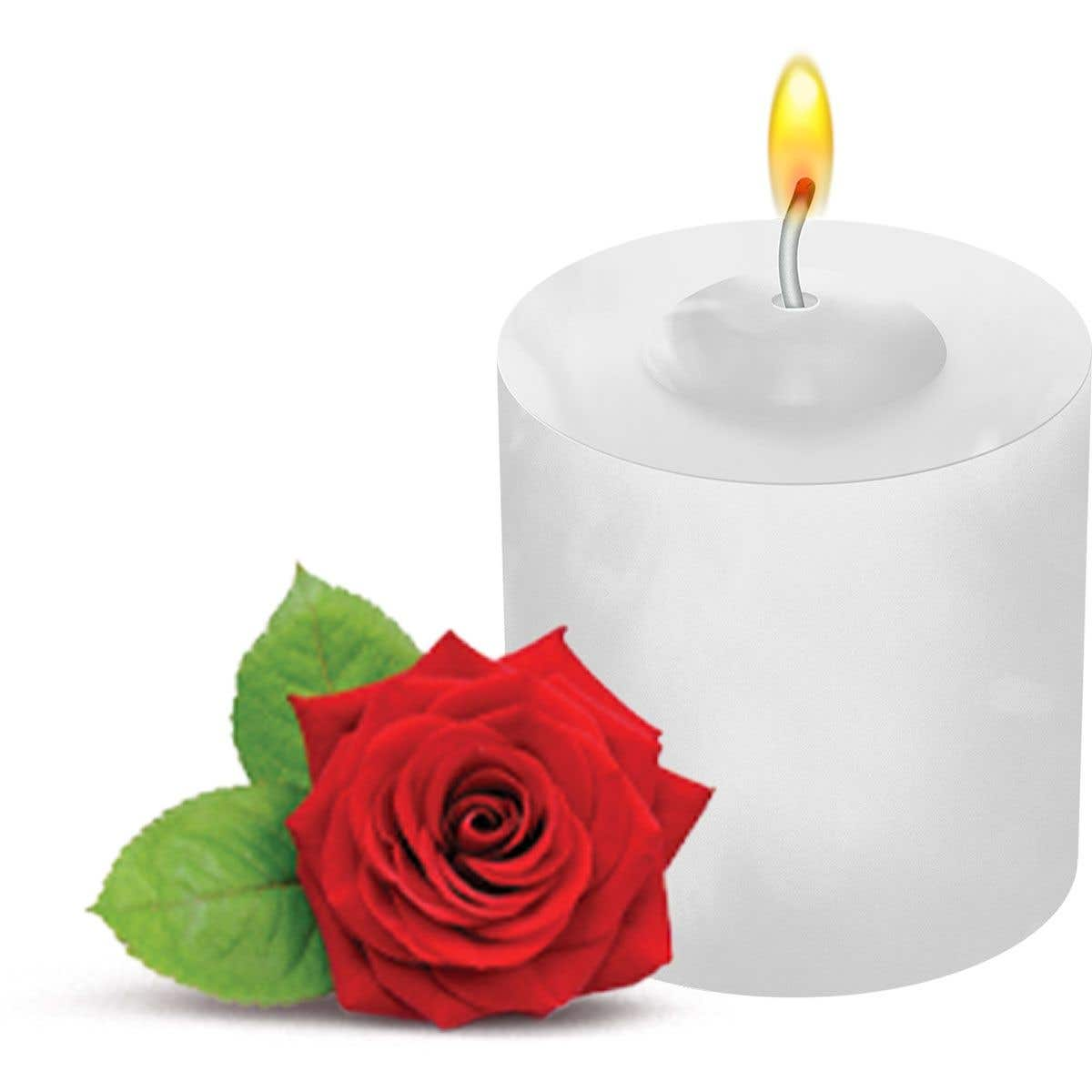 Vela Perfume de Rosas Santa Teresinha