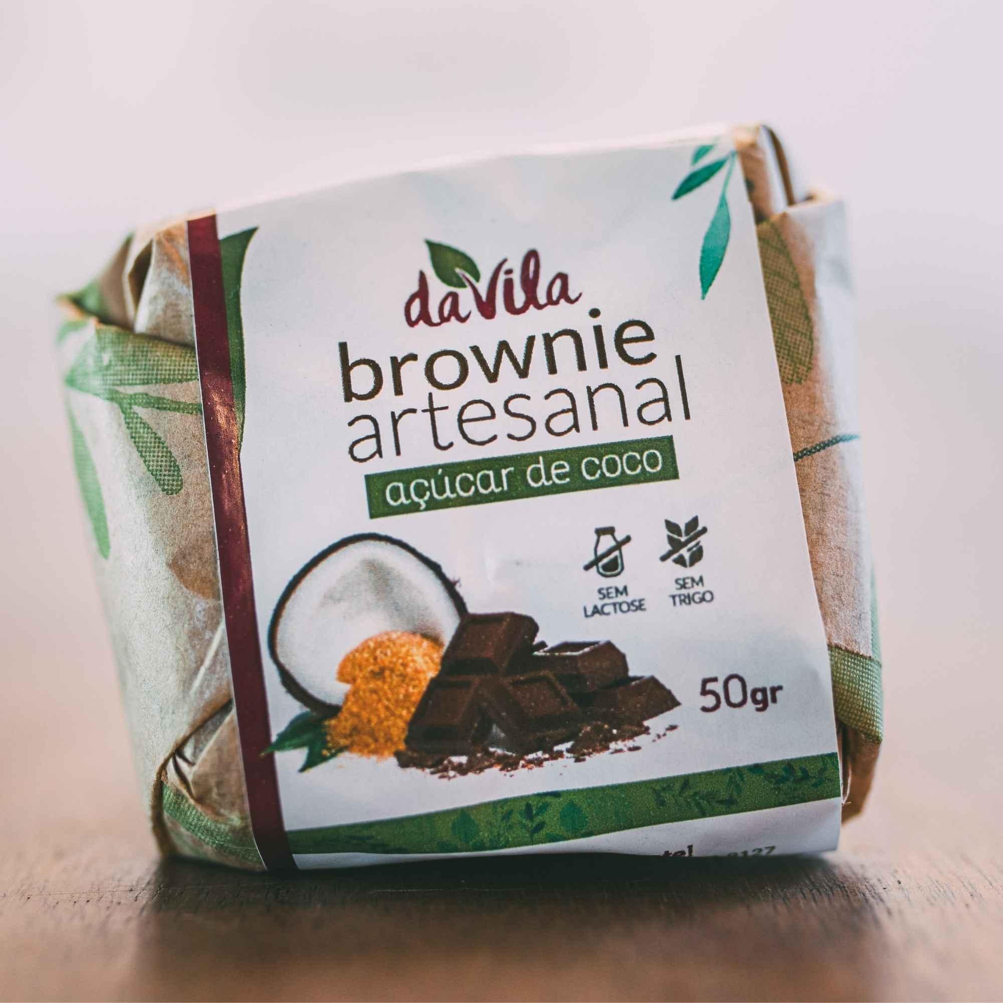 Brownie da Vila - com açúcar de coco