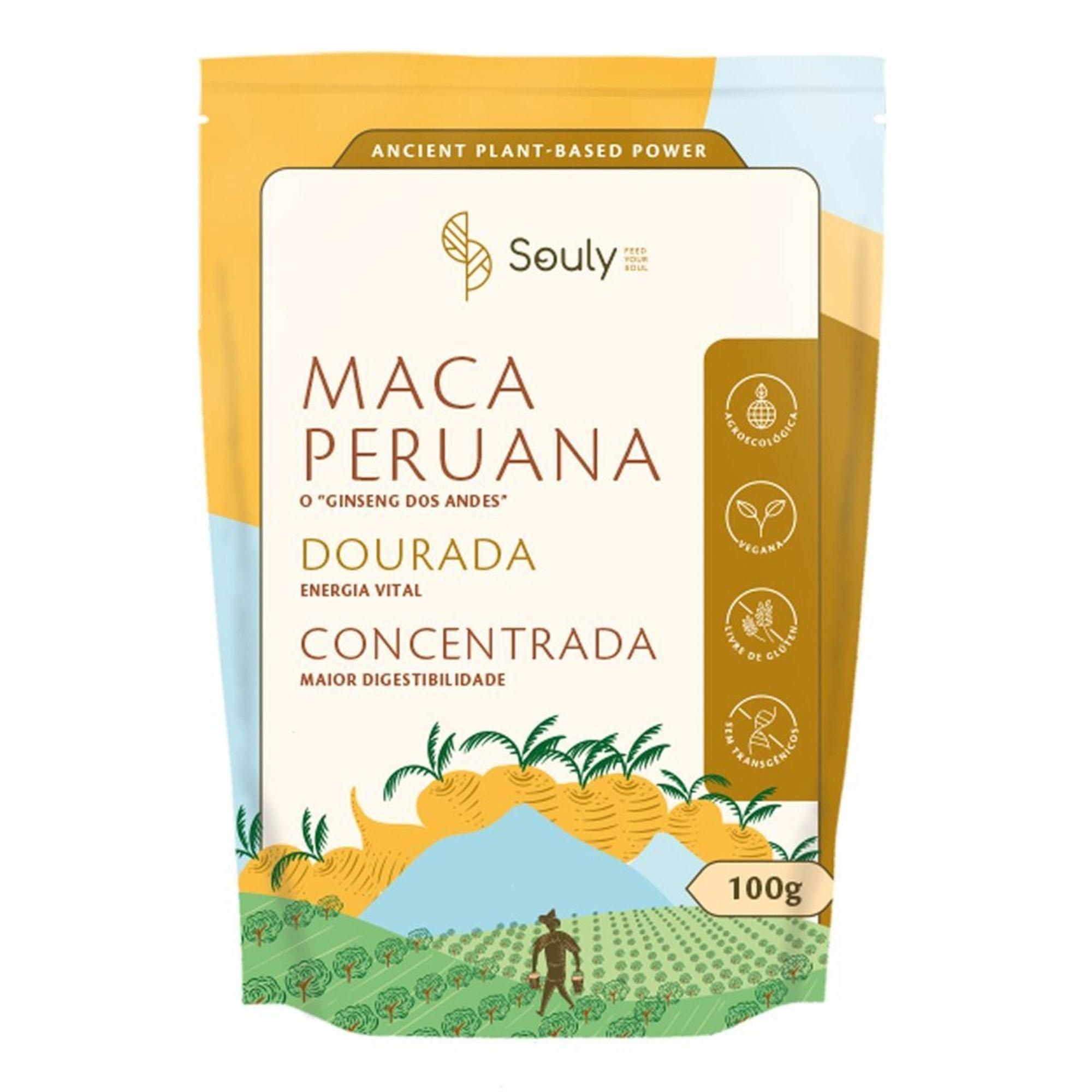 Maca Peruana Dourada - Souly