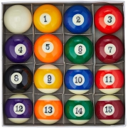 16 Bolas Numeradas De Sinuca Snooker Bilhar Western