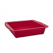 Assadeira Quadrada de Silicone Vermelha 28x25,5 cm Euro Home