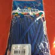 Balão Bexiga Canudo  Azul Escuro nº 09 - 250 un  Santa Clara-5 pct