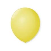 Balão de Látex Redondo nº 09- Amarelo Bebe