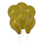 Balão de Látex Redondo nº 09- Ouro- Santa Clara