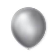 Balão de Látex Redondo nº 09- Prata- Santa Clara