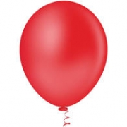 Balão de Látex Redondo nº 09- Vermelho