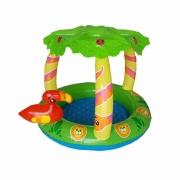 Banheira Infantil Mor Tropical 45 Litros Verde/Amarela