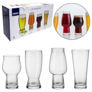 Jogo De Copo De Cristal Para Cerveja Com 4 Unidades (520/540/570/630ml) Na Caixa