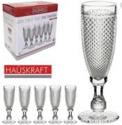 Jogo de taça de vidro para champanhe hauskraft c/ 6 unid - Haüskraft