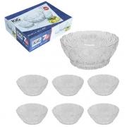 Jogo de tigela redonda para sobremesa 7 peças na caixa