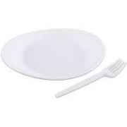 Kit  Festa Oval Sobremesa -10 pratos e 10 garfos- Prafesta