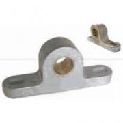 Mancal Alumínio com Bucha de Latão Ø16,05mm para Fixação do Eixo Assador- kit c/03
