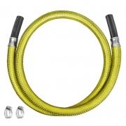 Mangueira Gás 1,5m Aço Flexível 3/8 Nbr 13419 - Roco