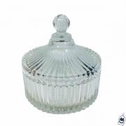 Potiche decorativo de vidro Natalia 15 cm - Hauskraft