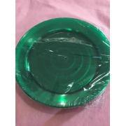 Prato Para Refeição 21 cm -Acrilico Verde- com 50 unidades