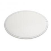 Tábua Plástica De Corte Com Canaleta Para Pizzas Redonda Branco 30x30x1cm SOLRAC