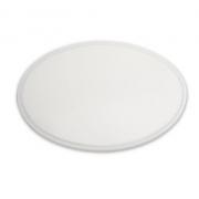 Tábua Plástica De Corte Com Canaleta Para Pizzas Redonda Branco 50x01cm SOLRAC