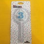 Vela De Aniversário Estrela nº 3- kit com 4