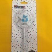 Vela De Aniversário Estrela nº 5- kit com 4