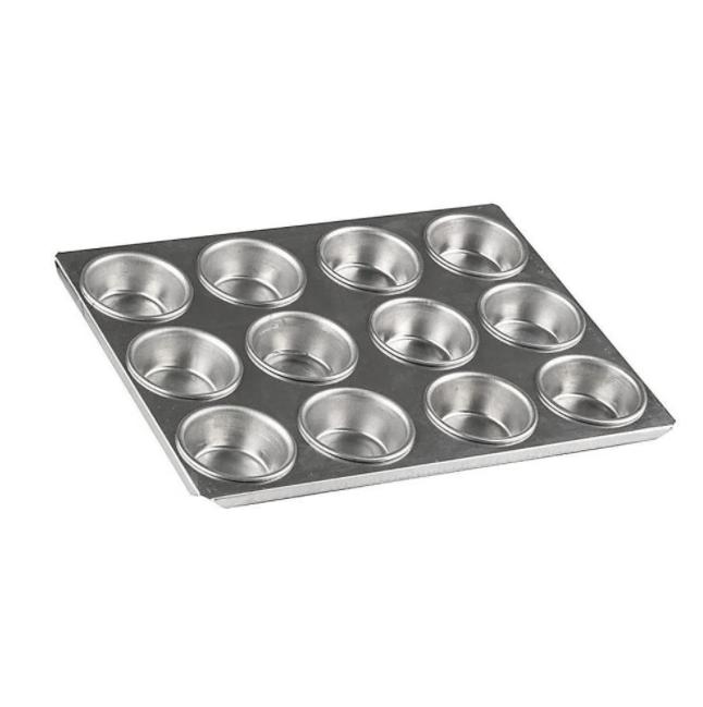 Assadeira para mini cupcake com 12 cavidades un Roldan