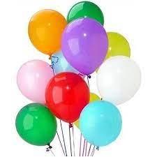 Balão Bexiga de Látex Redondo Colorido nº 9