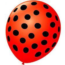 Balão Bexiga de Látex Redondo Fantasia- vermelho/Preto