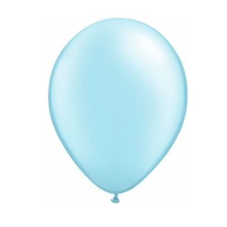 Balão de Látex Redondo nº 09- Azul bebê