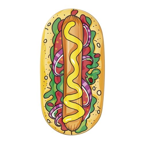 Boia Inflável Para Piscina Mor Hot Dog Até 90 Kg