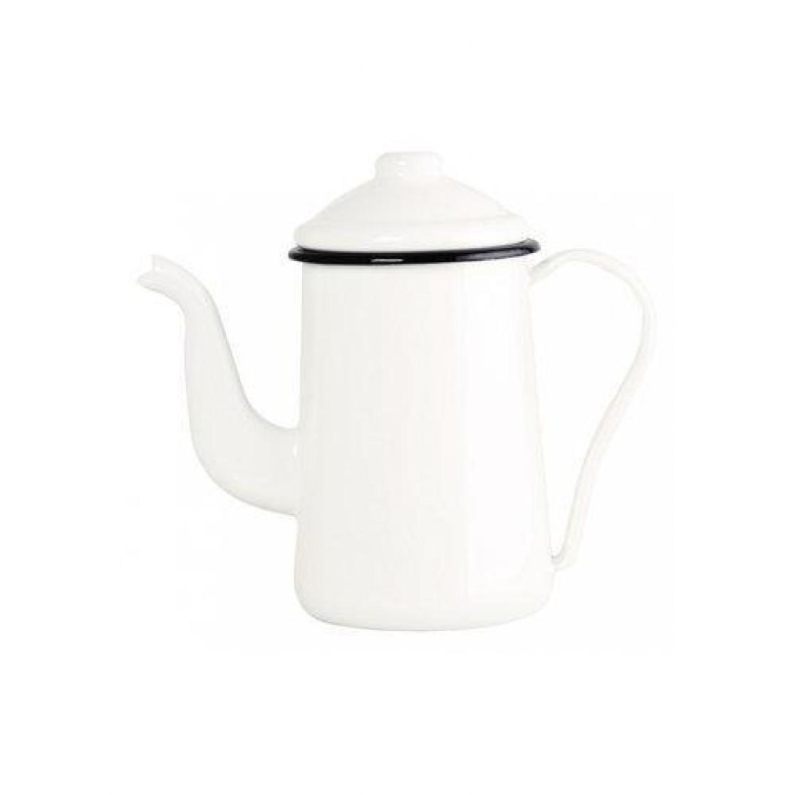 Bule Esmaltado Tradicional Para Cafe - Branco - No 14 - Ewel