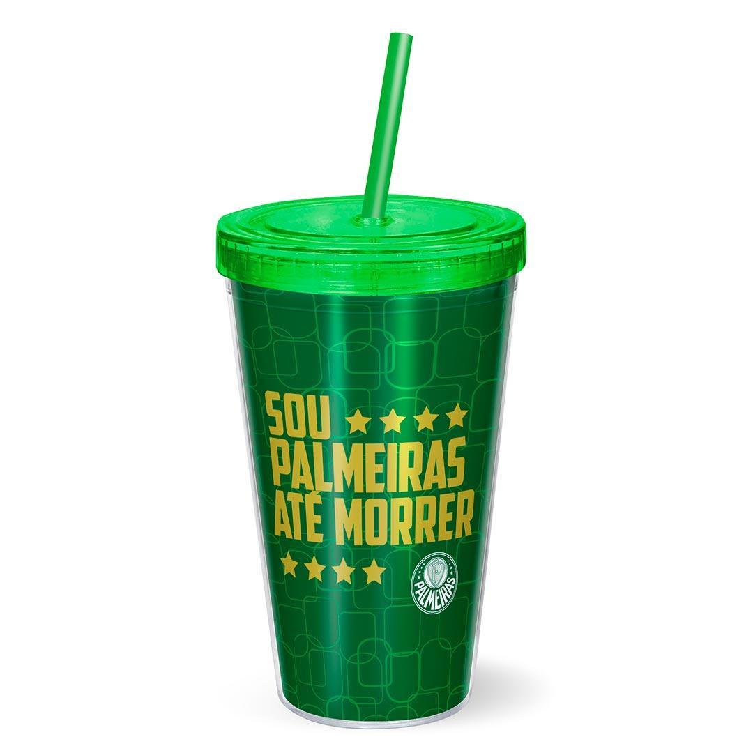 Copo Canudo Presente Palmeiras Sou Palmeiras Até Morrer