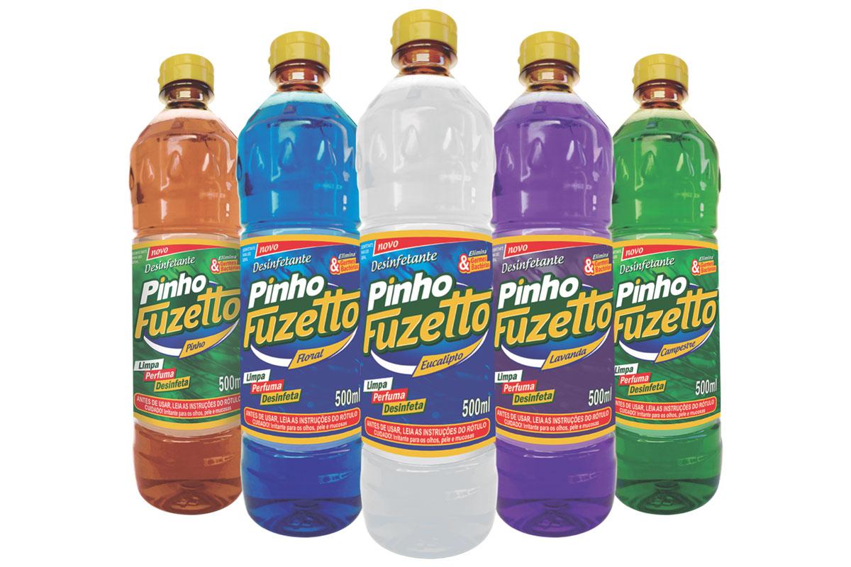 Desinfetante Fuzetto 5 unidades com aromas diferentes