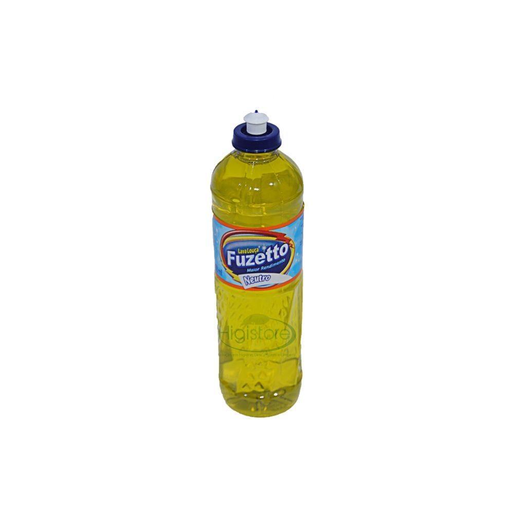 Detergente Fuzetto Limão- 500 ml- kit com 5