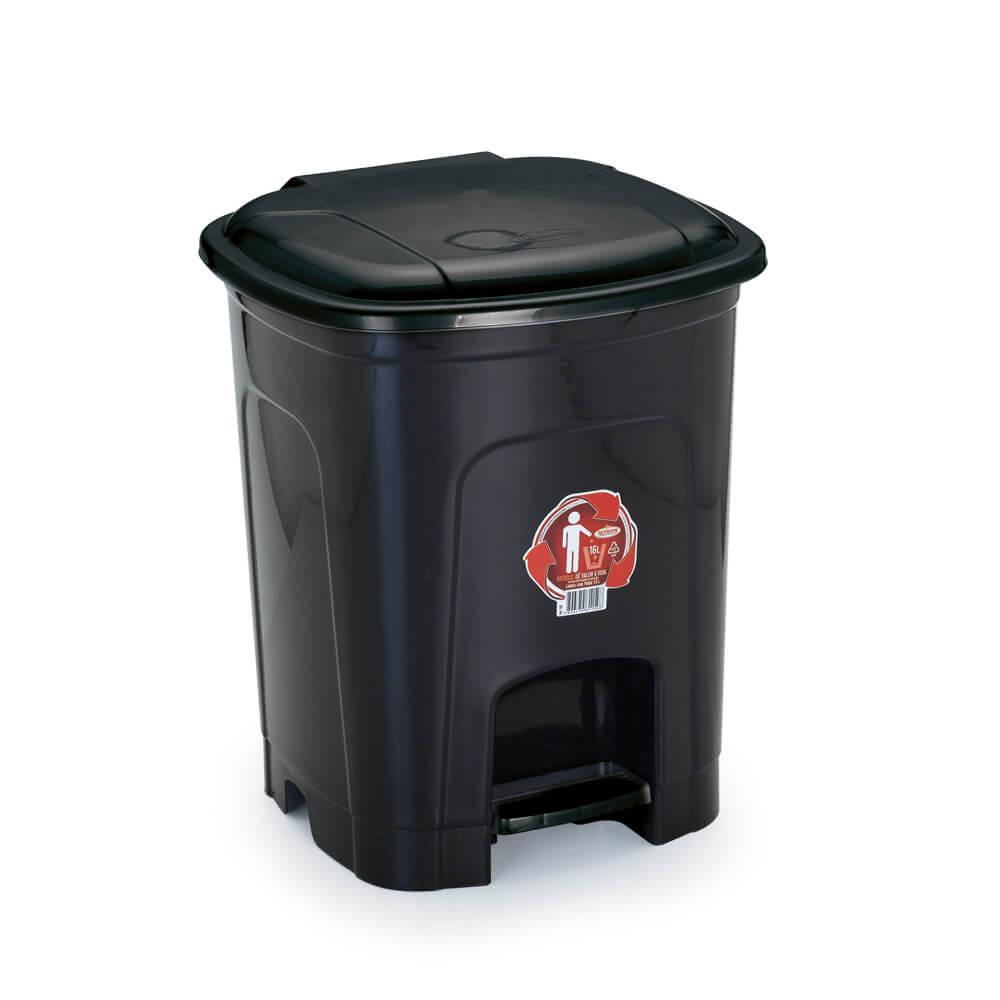 Lixeira com Tampa e Pedal 16 litros Nitronplast