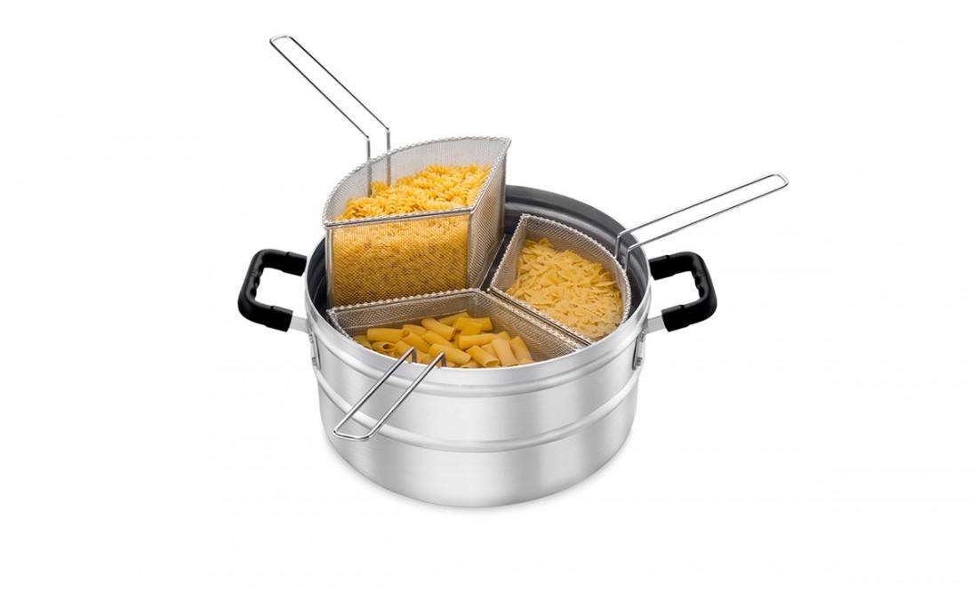Multi-Cozer – Caçarola p/ Cozinhar Massa com 3 Cestos s/ Tampa Hotel
