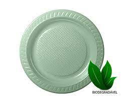 Prato biodegradavel - 23cm - com 50 un - Copobras
