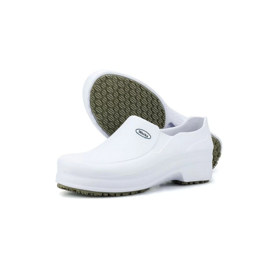 Sapato Soft Work Branco BB65 N°37