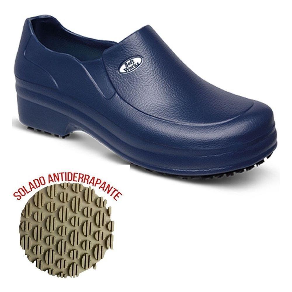 Sapato Soft Work Marinho BB65 N°40