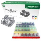 Kit Braquete de aço 022 Roth C/Gancho 100 casos Biomax  - Aditek