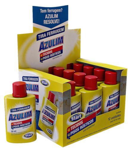 kit 3und Tira Ferrugem De Tecidos E Pisos Azulim 50ml - Start