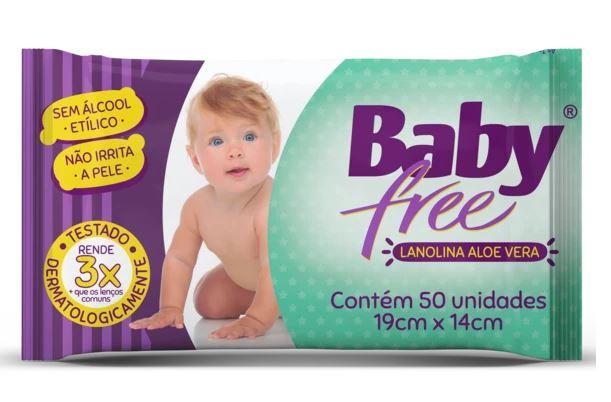 Lenço umedecido 50und - BabyFree